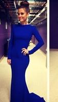Darmowa wysyłka alibaba ekspresowe europa ameryka nowy mody kobiety powrót krzyż hollow sexy party maxi bandaż dress niebieski czerwony czarny
