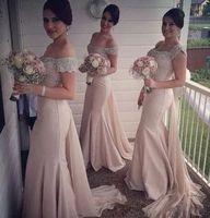 Dusty Pink Long Bridesmaid Dresses Mermaid Beaded Maid Of Honor Dress Vestido Para Madrinha De Casamento