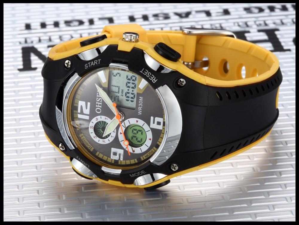 Original Ohsen Brand Fashion Sports Men's Watches 30M Waterproof Rubber Black Rubber Band Digital Sport Wristwatch for Men Gift (33)