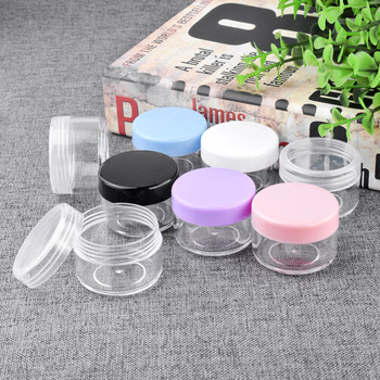 5pcs 10g/15g/20g Empty Plastic Cosmetic Box Makeup Nail Art Bead Storage Container Portable Cosmetic Cream Jar Pot Round Bottle professional women beauy makeup tools portable cosmetic eyelashes cream bottle empty eyeliner tube cosmetic mascara container