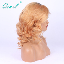 Virgin Peruvian Hair With Baby Hair Pre-Plucked Human Hair Lace Front Wigs 150% Long Ombre Blonde Remy Human Hair Wigs