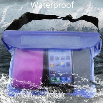 Waterproof Dry Pack Outdoor Swimming Drifting Waterproof Pouch Dry Bag PVC Waist Phone Cover Storage Protective Bag for iPhone 7