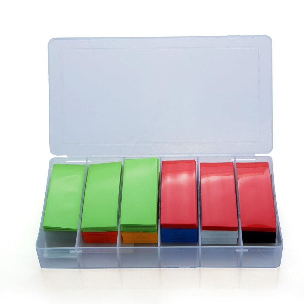 280pcs 74mm PVC Heat Shrink Tubing Tube Wrap Kit 8 Colors with Case For Li ion 18650 18500 Battery