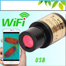 Buy online 2MP Microscope Wireless Electronic Eyepiece WIFI Digital USB CMOS Video Camera for Biological Stereo Microscope