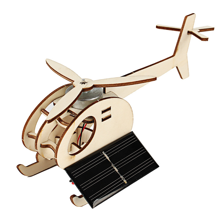 DIY Technology Mini Solar Aircraft Interesting Invention Of Pupil Intelligence Compatible Assembly Model Toys For Children
