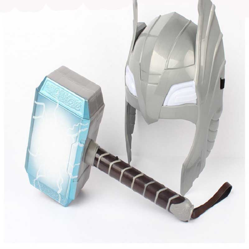 Back To Search Resultstoys & Hobbies Avengers Alliance Thor Luminou Helmet And Hammer Action Figure Toy Children Cosplay Thor Helmet And Hammer Toys Birthday Gift