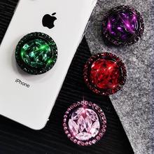 Universal Finger Ring Phone Holder Luxury Bling Diamond Desktop Stand Metal Mount mobile phone holder stand