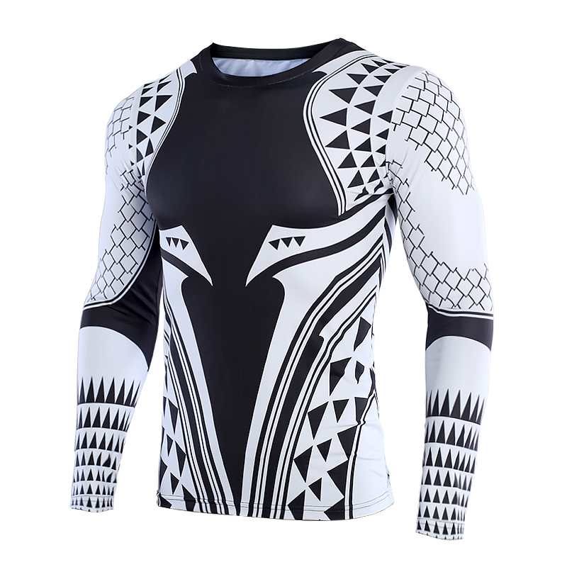 d46bec88b9172 Aquaman 3D Printed T shirts Men Compression Shirt 2018 Newest Character  Cosplay Costume Long Sleeve Tops For Male Fitness Cloth-in T-Shirts from  Men's ...