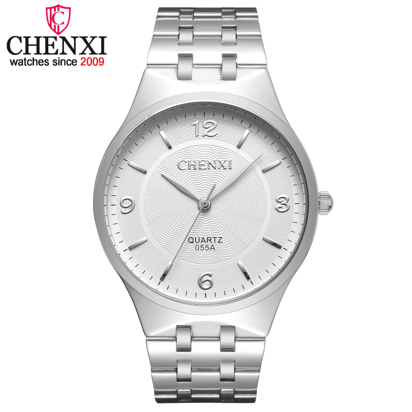 CHENXI New Top Luxury Watch Men Brand Mens Watches Ultra Thin Full Stainless Steel Band Quartz Wristwatch Fashion Casual Watches bosck top luxury watch men brand men s watches ultra thin stainless steel band quartz wristwatch fashion casual leather watches