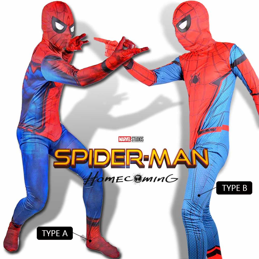 Kids Spider-Man Homecoming Costume 2017 New Civil War Spiderman Suit Marvel Superhero Halloween Costumes for Children 2 Types