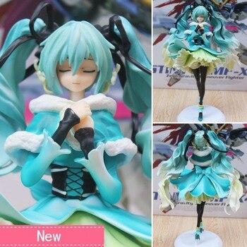 Anime Hatsune Miku Summer snow grass Ver 17 PVC Action Figure Collectible Model doll toy 28cm hatsune miku winter plush doll