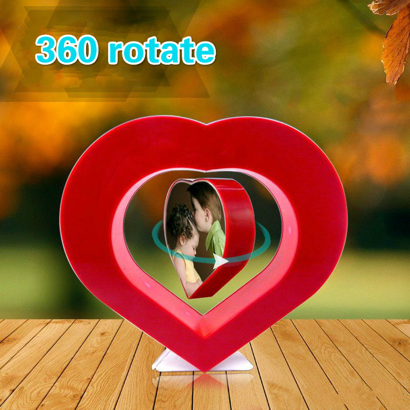 Floating Photo Frame Red Heart Magnetic Levitation Pictures Frame Magnetic Suspension Photo Frame Home Office Decoration suspension magnetic levitation core parts magnetic levitation booth magnetic levitation moon lamp 800g 1000g