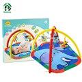 Brinquedos do bebê Ginásio Atividade Esteira do Jogo Tapetes de Jogo Tapete de Desenvolvimento de Aprendizagem Brinquedo Educativo com Chocalhos de Bebê 78*69 cm