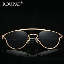 ROUPAI High Quality Metal Frame Female Sun Glasses 2017 Luxury Brand Designer Polarized Sunglasses Women Shadow Glasses oculos