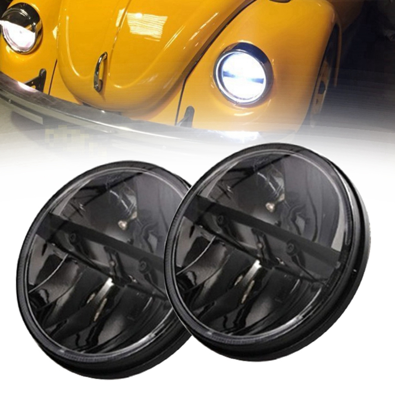 7 INCH Round 36W LED Headlight Kit With H4 High Beam Low Beam for jeep JK Wrangler Defender Hummer Truck 4x4 off road