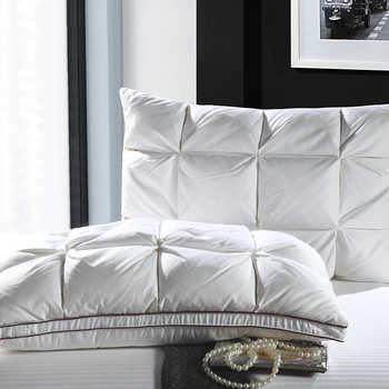 48*74cm White Color luxury Bread Style Rectangle Goose/Duck Down Bedding Pillows Down-proof Cotton fabric Soft Pillow - DISCOUNT ITEM  42% OFF All Category