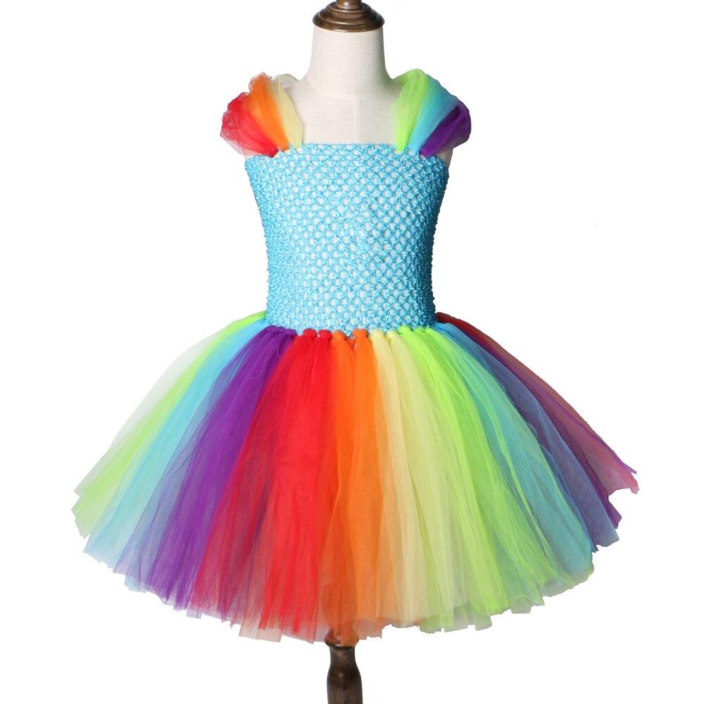 Children Girls Rainbow Pony Tutu Dress Princess Horse