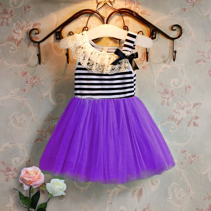Summer vest dress girl Princess Girl Dress Up Fashion Sleeveless Bowknot Decoration Party Chlidren Apparel