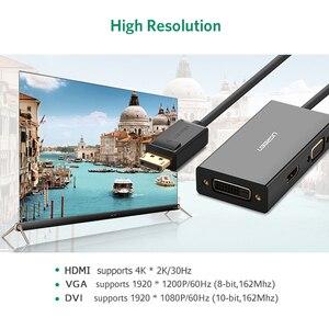 Image 4 - Ugreen 3 In 1 Displayport Dp Naar Hdmi Vga Dvi Adapter 4K Man vrouw Display Port Kabel Converter voor Hp Pc Laptop Projector