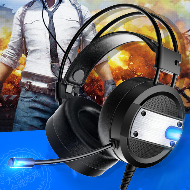 Wired Gaming Headset with Deep Bass and LED mic 2