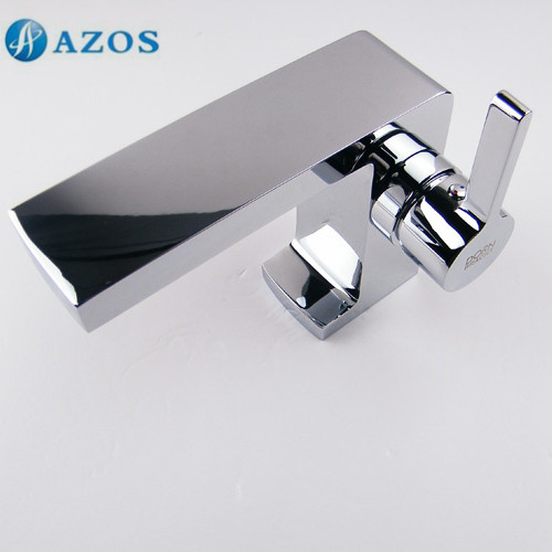 AZOS Bathroom Basin Tap Brass Chrome Polish Color Single Hole Deck Mount Hot Cold Mixer Toilet Sink Faucet Furniture MPDKZ019 newly modern simple bathroom waterfall widespread basin sink faucet chrome polish single handle single hole mixer tap deck mount