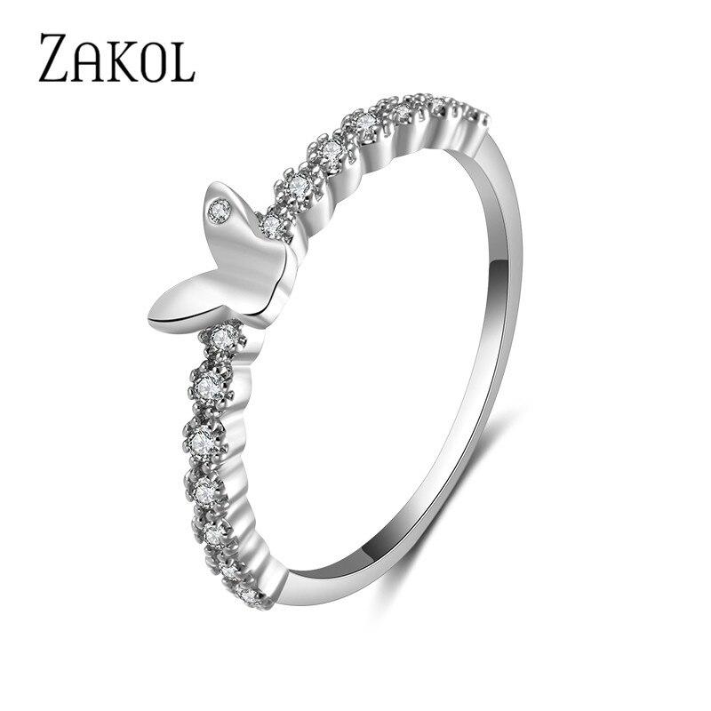 Nett Uilz Mode Frauen Ringe Schmuck Handgemachte Zirkonia Schmetterling Flügel Ring Für Braut Hochzeit Jahrestag Bijourx Ur188 Verlobungsringe
