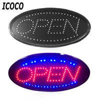 ICOCO LED Open Sign Advertising Light Shopping Mall Bright Animated Motion Running Neon Business Store Shop+Switch US/EU plug