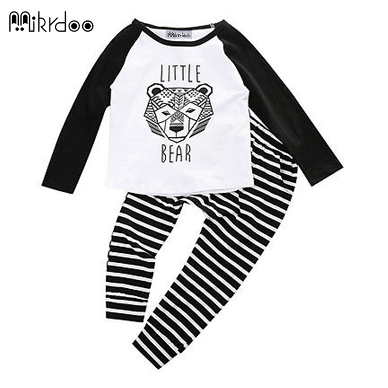 HOT SALE Fashion baby boy clothes cartoon tiger long sleeve shirt+pants newborn baby boys clothing set infant outfits children