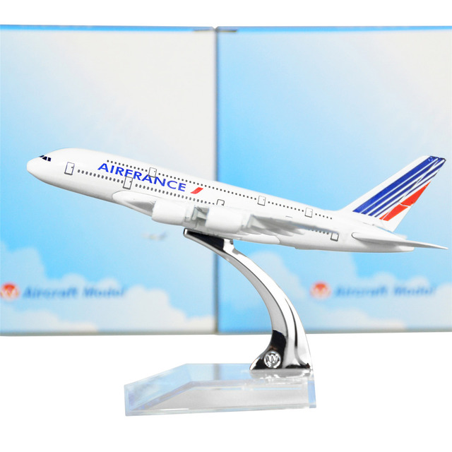 Air France A380 14.5cm solid alloy metal model airplane models child Birthday gift plane models Free Shipping
