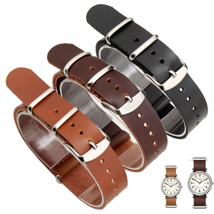High Quality Vintage  Horse Genuine Leather Nato Watchband Brown Watch Straps 18mm 20mm 22mm forTIMEX T2P492 T2P495 hmc492lp3e 492 qfn16 high quality