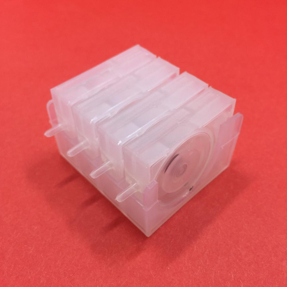 YOTAT 4 colori / set Valvola di controllo dell'inchiostro della valvola unidirezionale CISS con base Per Epson HP Brother Canon CISS Accessori Smorzatore inchiostro