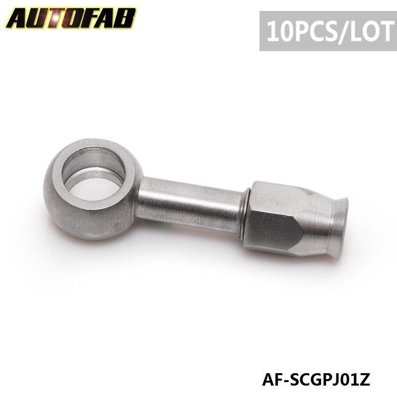 Prix pour AUTOFAB-10 PC/LOT AN-3 à M10 Métrique 10mm Droite En Acier Inoxydable Banjo Frein Oeil De Tuyau Raccord Pour Auto moto AF-SCGPJ01Z
