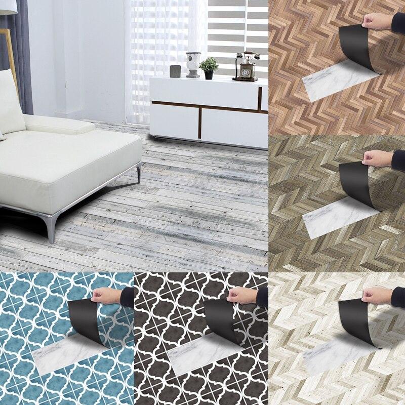 Roll Self Adhesive Tile Floor Wall Sticker PVC Home Bedroom Decor 20x300cm