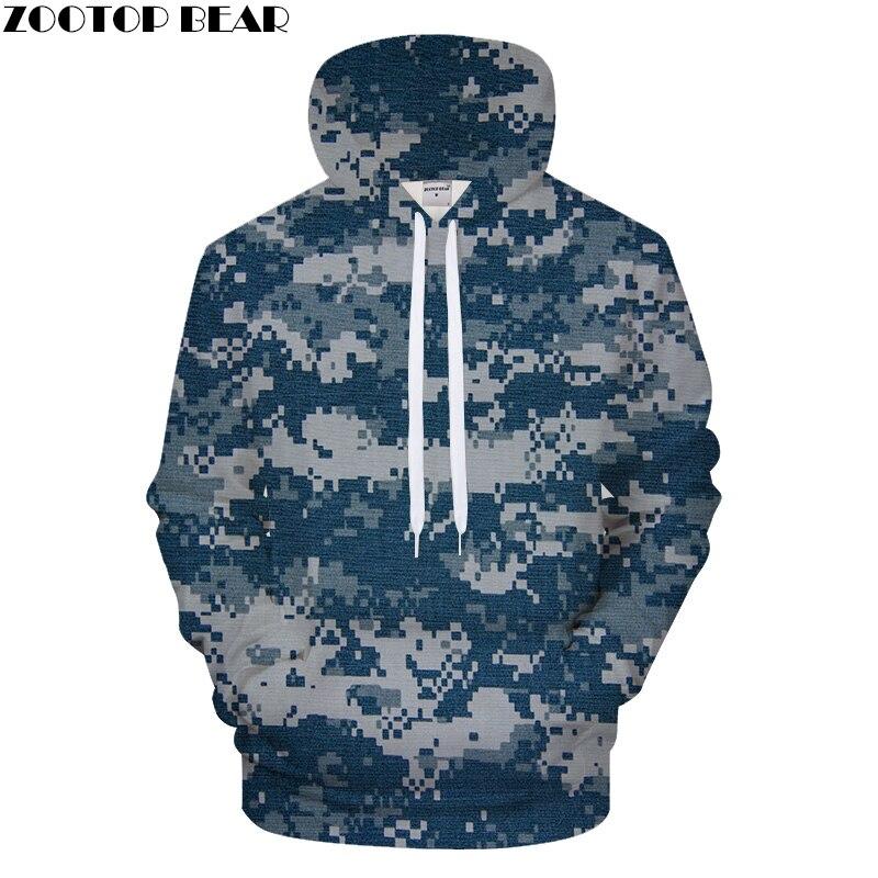 Blue Mosaic Pattern 3D Print Hoodies Men Women Hoodie Casual Sweatshirt Groot Tracksuit Pullover Streatwear Dropship ZOOTOPBEAR