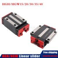 Kostenloser versand Linearführungsschiene Block HGH15CA HGW15CC HGH20CA HGH20HA HGH25CA HGH30CA Linear Block Stick HGR15/20 für CNC teile