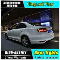 Car Styling for VW Jetta LED Taillights 2012 2014 for Jetta Tail Lamp Rear Lamp Fog Light DRL+Brake+Park+Signal lights led 4pcs
