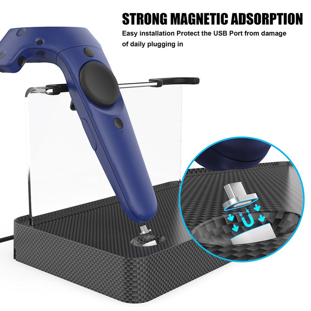 Wireless Charging Station Magnetic Dual Charging Stand for HTC VIVE VR Controller NK-ShoppingWireless Charging Station Magnetic Dual Charging Stand for HTC VIVE VR Controller NK-Shopping