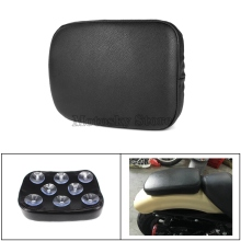 Motorcycle Rear Passenger Cushion Pillion Seat Pad Suction Cups Accessories Harley Dyna Sportster Softail Bobber Chopper new motorcycle 3 spring solo bracket seat for chopper bobber custom black bg