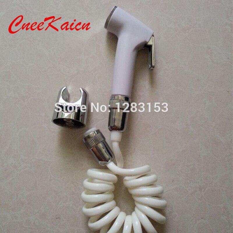 Haute qualité portable toilettes handheld bidet set & téléphone douche tuyau et ABS de douche titulaire shattaff douchette wc laiton