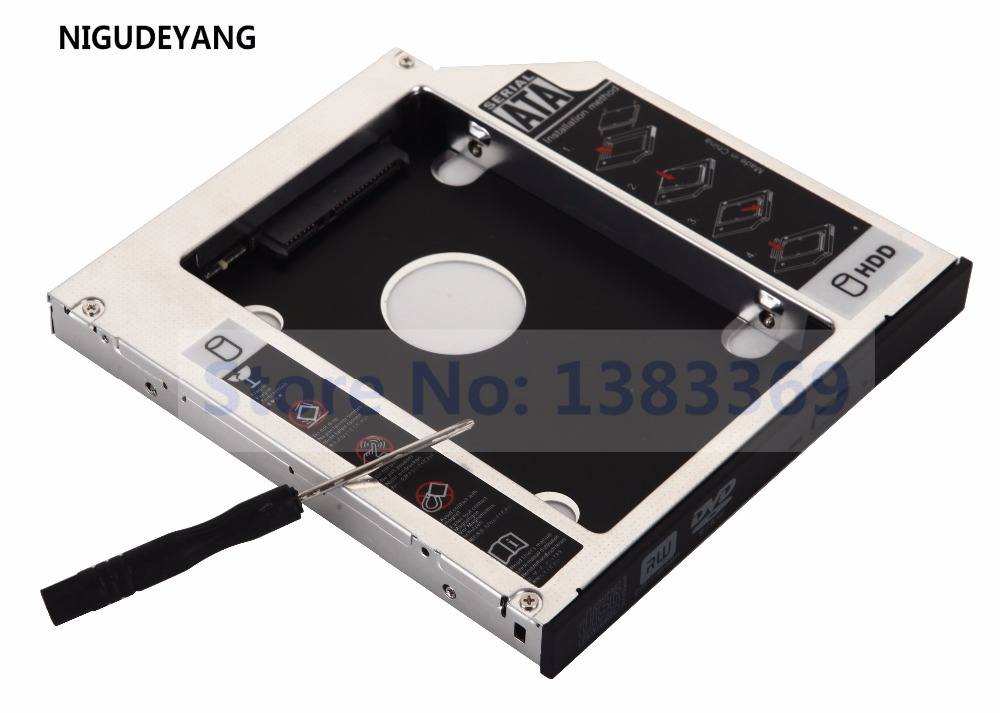 US $11 99 |NIGUDEYANG 2nd SATA HDD SSD Hard Drive Caddy Adapter for GATEWAY  ZX4300 ZX4951 ZX6971 GT31N-in HDD Enclosure from Computer & Office on