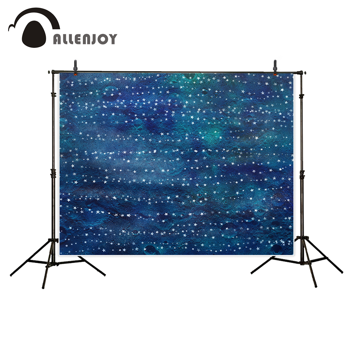 Allenjoy vinyl photography backdrop Moon Spots white dark star cartoon background newborn original design for photo studio allenjoy background for photo studio full moon spider black cat pumpkin halloween backdrop newborn original design fantasy props