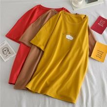2019 Summer New Women's T-shirt Korean Fashion Casual Cute Cloud Print Female Tshirts Loose O-Neck Short Sleeve Tees Top 80s 90s все цены
