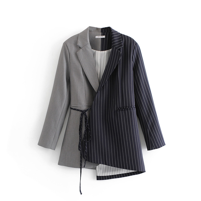 Office lady sexy slim business blazers women autumn notched collar long sleeves vintage striped Women Blazer And Jackets