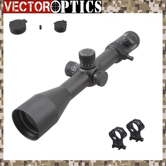 Vector Optics Atlas 5 30x56 ปืนไรเฟิลขอบเขต 35 มม.Riflescope Sunshade VHLแกะสลักReticleป้อมปืนล็อคโฟกัสด้านข้าง 12.7 มม 50 BMG