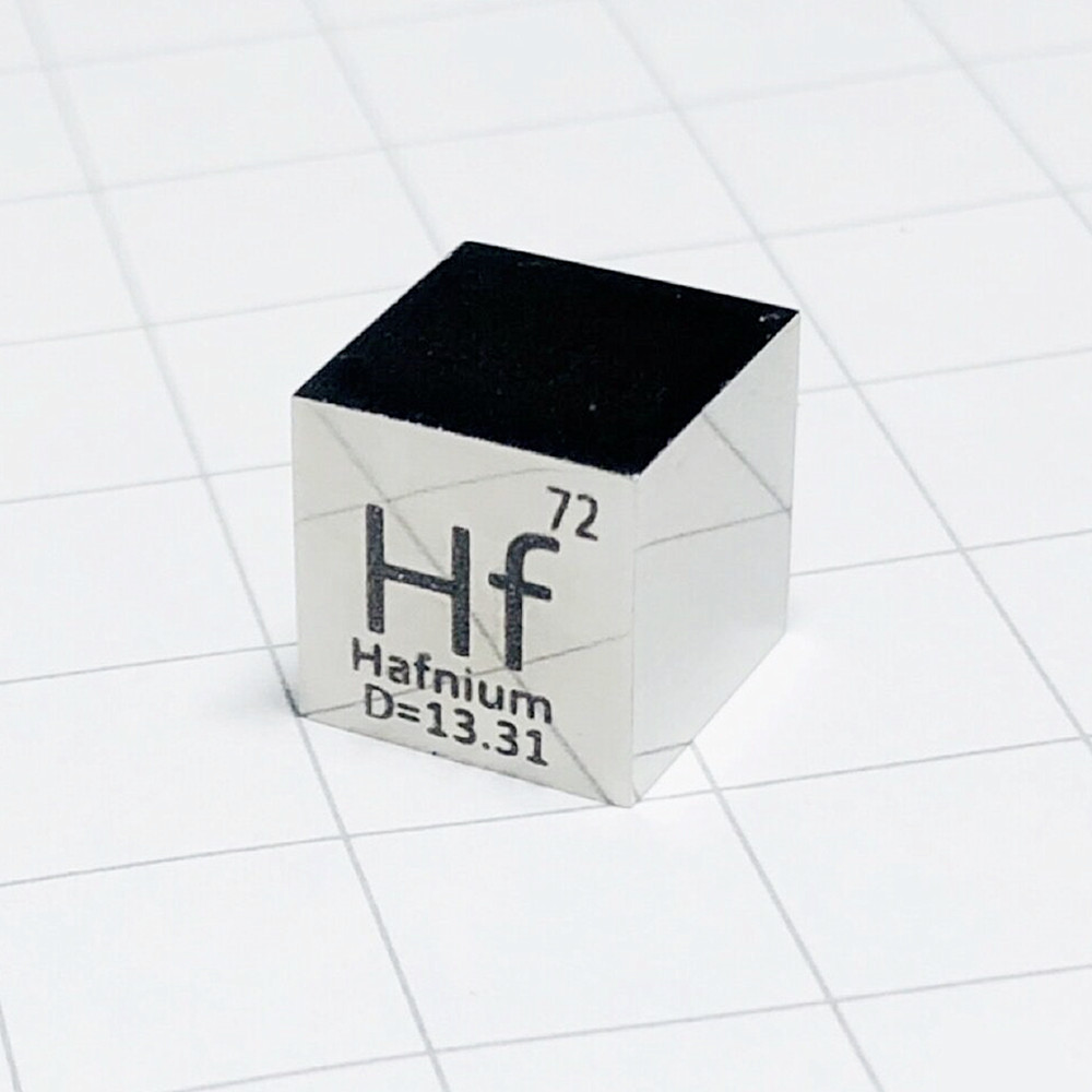 Hafnium Polished Cube Hf Luxury Mirror Shining Metal Element Collection Science Experiment 10x10x10mm Density DevelopmentHafnium Polished Cube Hf Luxury Mirror Shining Metal Element Collection Science Experiment 10x10x10mm Density Development
