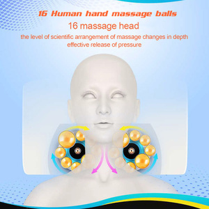 Image 2 - Neck Shoulder Back Body Electric Massage Pillow Infrared Heating Shiatsu Massager Device Cervical Healthy Massageador Relaxation