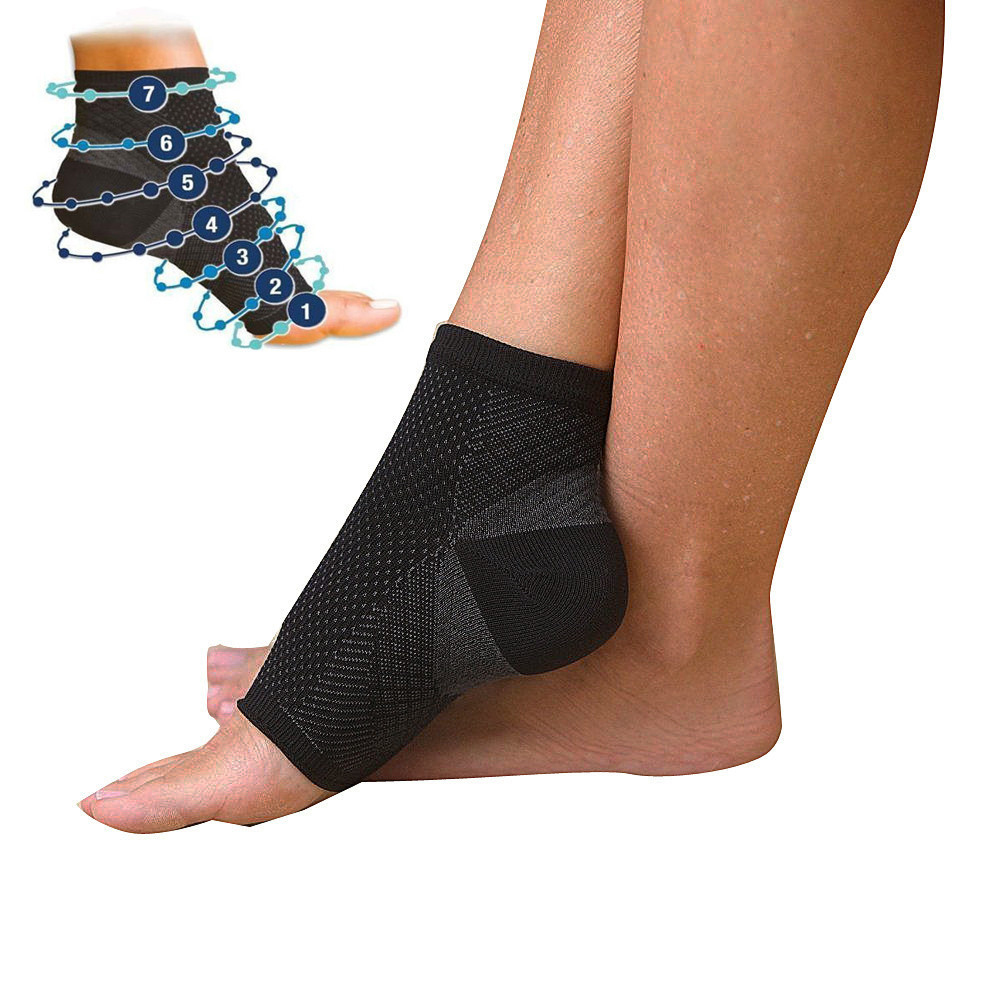 Foot angel anti fatigue compression sleeve men women Running football Basketball Sports Outdoor Ankle Brace Socks dropshipping ...