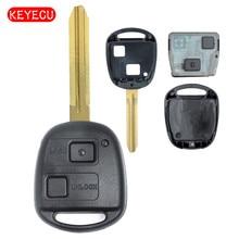 Keyecu Remote Key 2B 304MHz 4C Chip  for Toyota Tarago Avensis RAV4 Corolla Landcruiser 100 P/N:60030 or 60040 Free programming