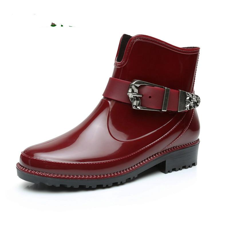 c4946e3d9d51b3 La Antidérapant Chaussures rouge Martin Mode Choc Brise Femmes Nouvelle  L'eau De Campus Beige Mode Électrique Chaussures Simple 2018 ...