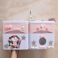 Bathroom tissue box free punch paper roll paper tube toilet tray waterproof toilet paper rack